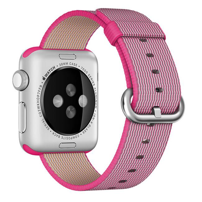 Ремешок Apple 38mm Pink Woven Nylon (MM9P2) для Apple Watch