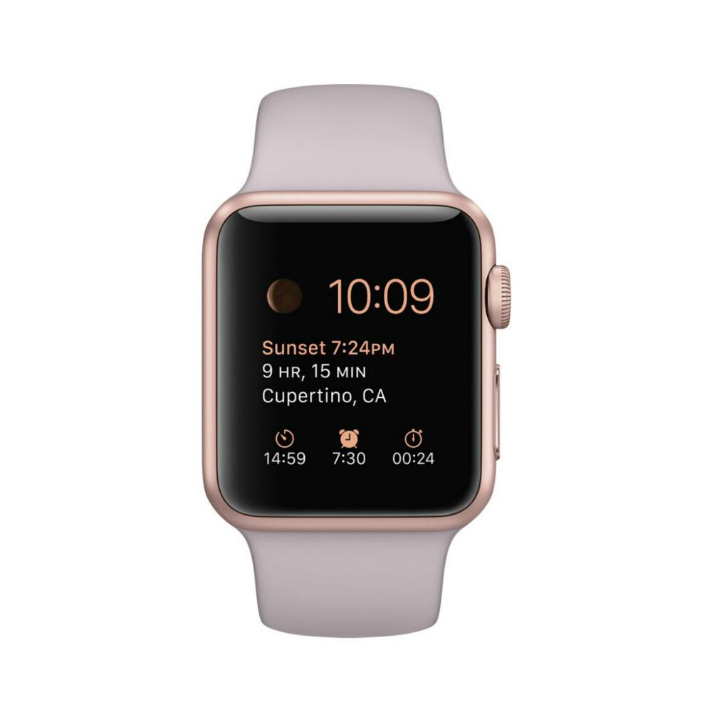 Часы Apple Watch Sport 38mm Rose Gold с сиреневым ремешком