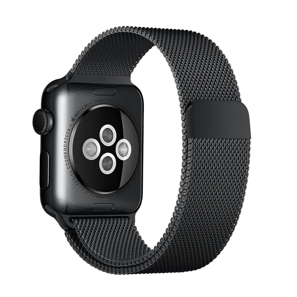 Ремешок Apple 38mm Space Black Milanese Loop (MLJJ2) для Apple Watch Series 1/2/3