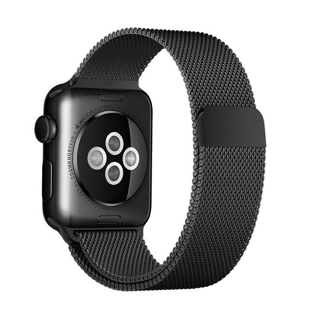 Ремешок Apple 38mm Space Black Milanese Loop (MLJJ2) для Apple Watch
