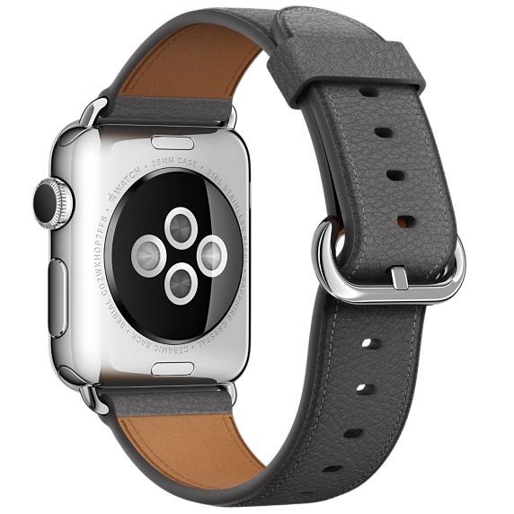 Ремешок Apple 38mm Storm Gray Classic Buckle (MMGQ2) для Apple Watch