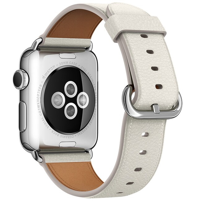 Ремешок Apple 38mm White Classic Buckle (MMGP2) для Apple Watch