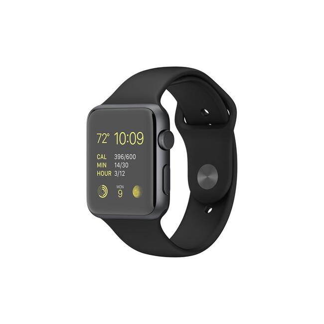 Часы Apple Watch Sport 42mm Space Gray с черным ремешком (MJ3T2)