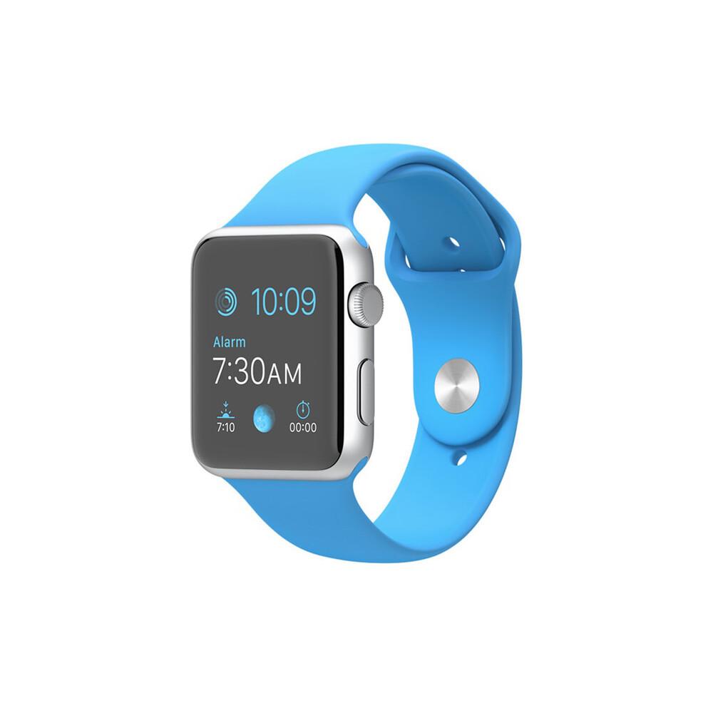 Часы Apple Watch Sport 42mm Silver с синим ремешком
