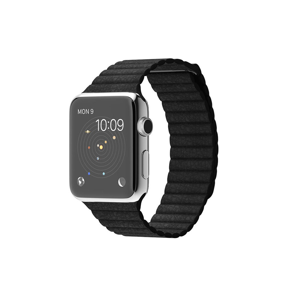 Купить Смарт-часы Apple Watch 42mm Black Leather Loop