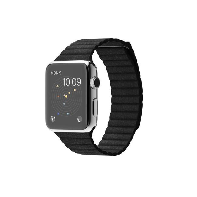 Часы Apple Watch 42mm Black Leather Loop