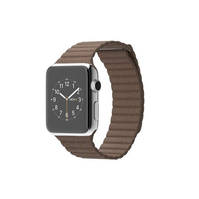 Часы Apple Watch 42mm Light Brown Leather Loop