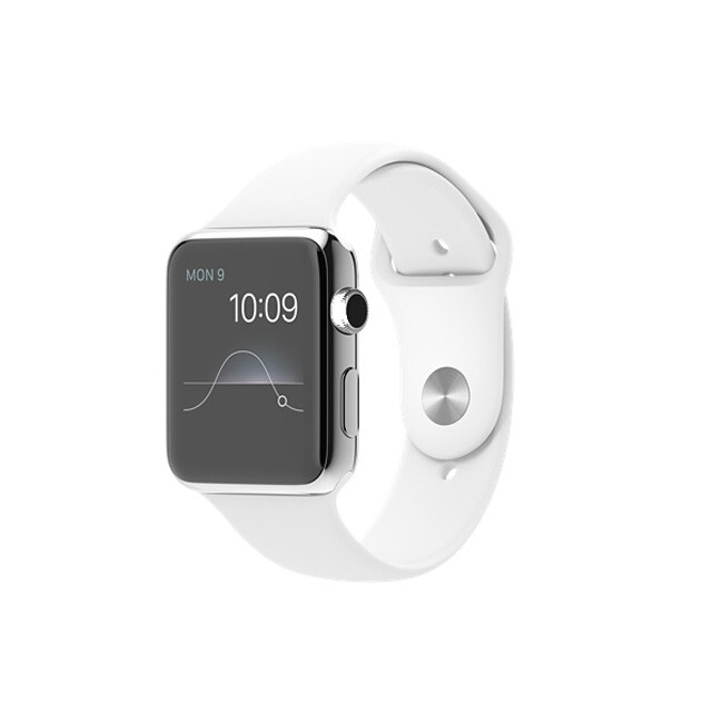Часы Apple Watch 42mm White Sport Band