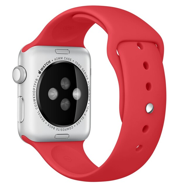 Ремешок Apple 42mm (PRODUCT) RED Sport Band (MLDJ2) для Apple Watch