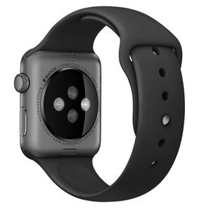 Купить Ремешок Apple 42mm Black Sport Band with Space Black Steel Pin (MJ4N2) для Apple Watch