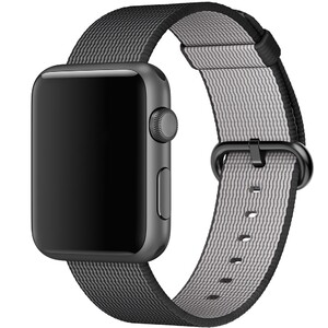 Купить Ремешок Apple 42mm Black Woven Nylon (MM9Y2) для Apple Watch Series 1/2/3