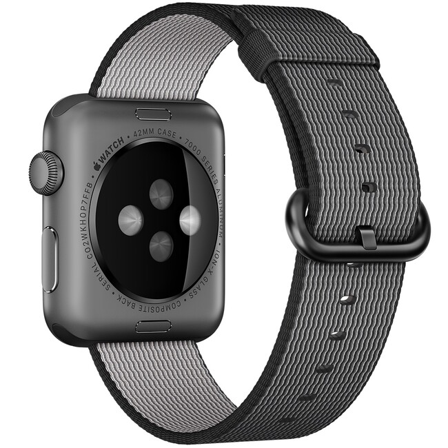 Ремешок Apple 42mm Black Woven Nylon (MM9Y2) для Apple Watch
