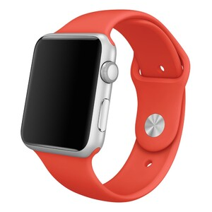 Купить Ремешок Apple 42mm Orange Sport Band (MLDK2) S/M&M/L для Apple Watch Series 1/2/3