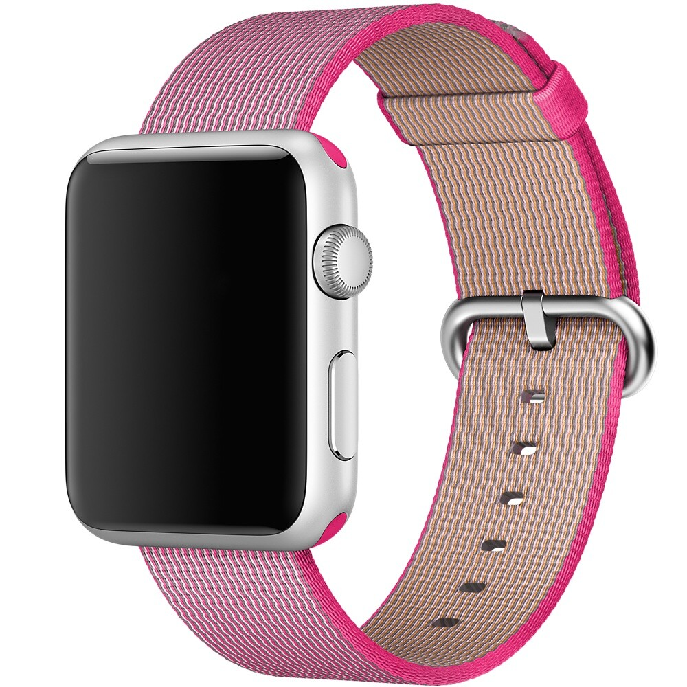 Ремешок Apple 42mm Pink Woven Nylon (MMA22) для Apple Watch Series 1/2/3