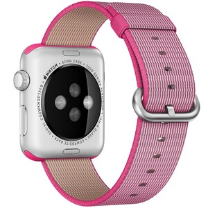 Купить Ремешок Apple 42mm Pink Woven Nylon (MMA22) для Apple Watch Series 1/2