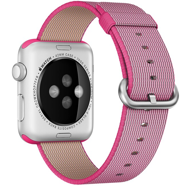 Ремешок Apple 42mm Pink Woven Nylon (MMA22) для Apple Watch