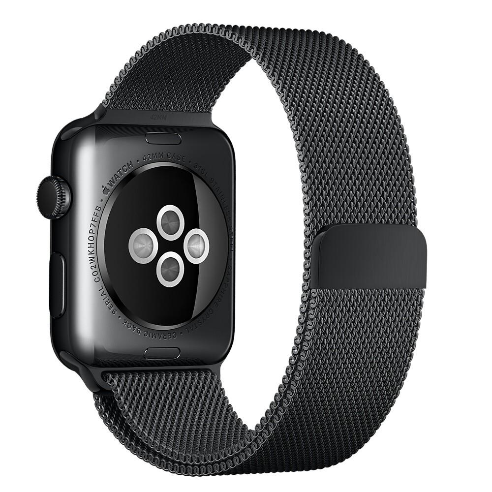 Ремешок Apple 42mm Space Black Milanese Loop (MLJH2) для Apple Watch Series 1/2