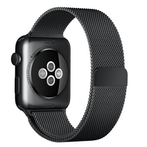 Купить Ремешок Apple 42mm Space Black Milanese Loop (MLJH2) для Apple Watch Series 1/2/3