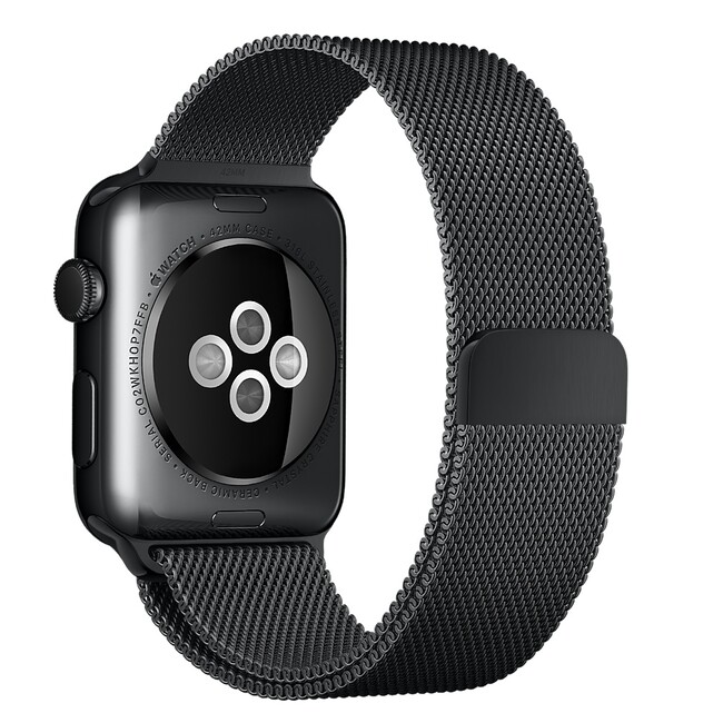 Ремешок Apple 42mm Space Black Milanese Loop (MLJH2) для Apple Watch