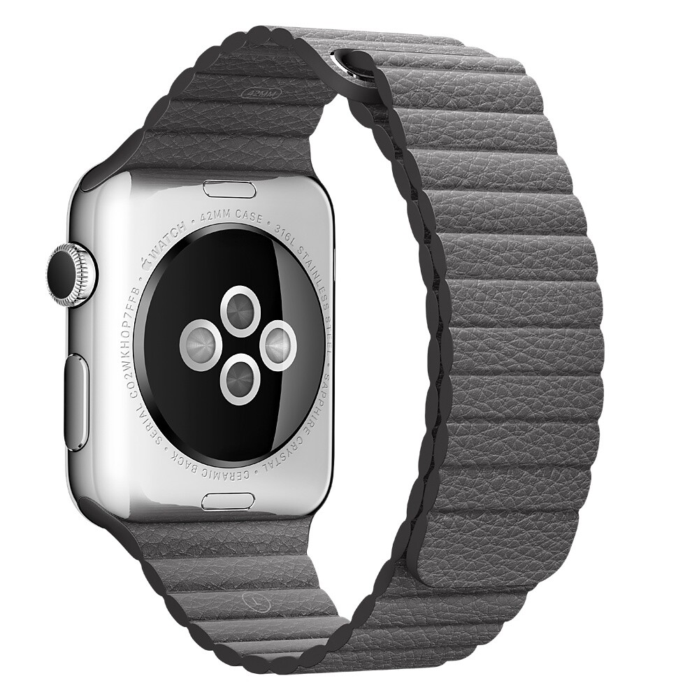 Ремешок Apple 42mm Storm Gray Leather Loop (MMAQ2) Medium для Apple Watch Series 1/2