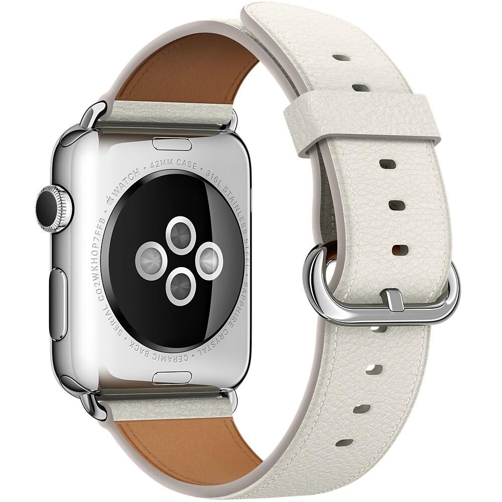 Ремешок Apple 42mm White Classic Buckle (MMGT2) для Apple Watch Series 1/2/3