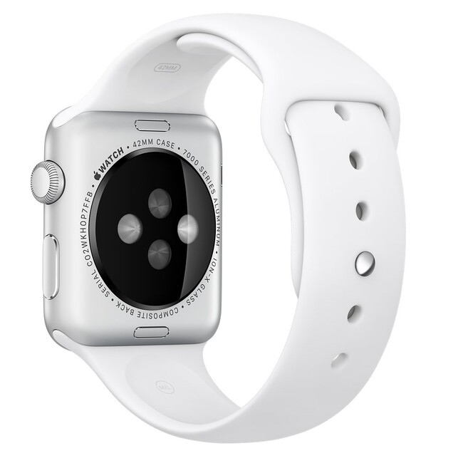 Ремешок Apple 42mm White Sport Band (MJ4M2) для Apple Watch
