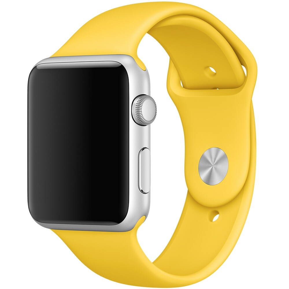 Ремешок Apple 42mm Yellow Sport Band (MM992) S/M&M/L для Apple Watch Series 1/2