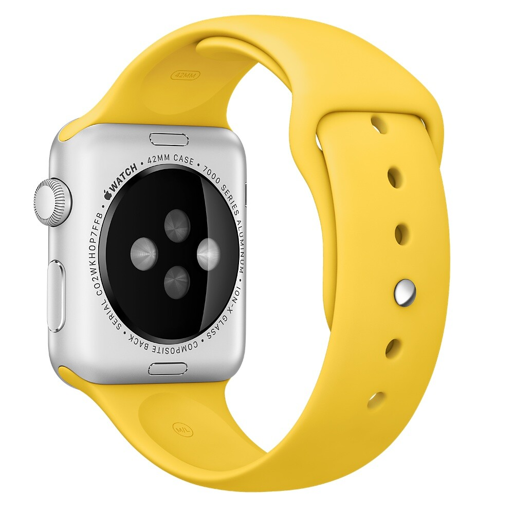 Ремешок Apple 42mm Yellow Sport Band (MM992) для Apple Watch Series 1/2