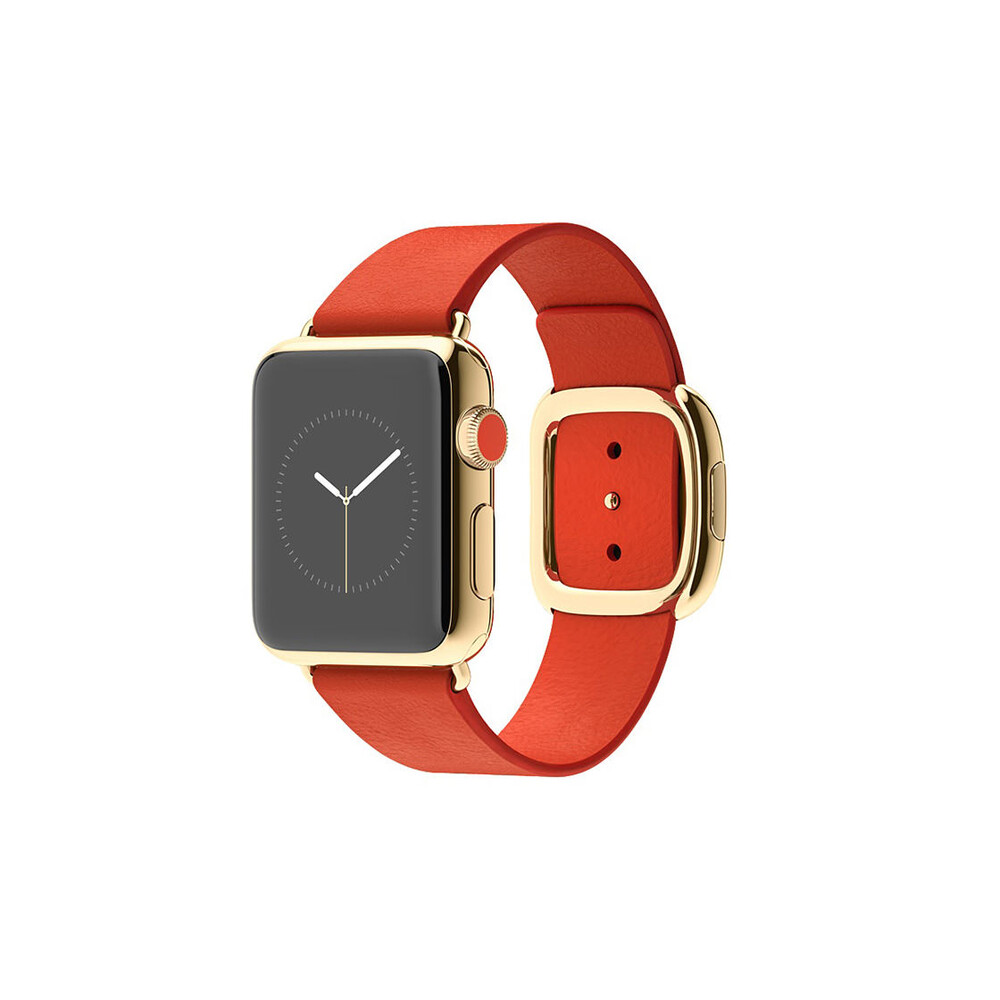 Часы Apple Watch Edition 38mm 18-Karat Yellow Gold Modern Buckle Bright Red