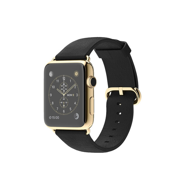 Часы Apple Watch Edition 42mm 18-Karat Yellow Gold Black Classic Buckle