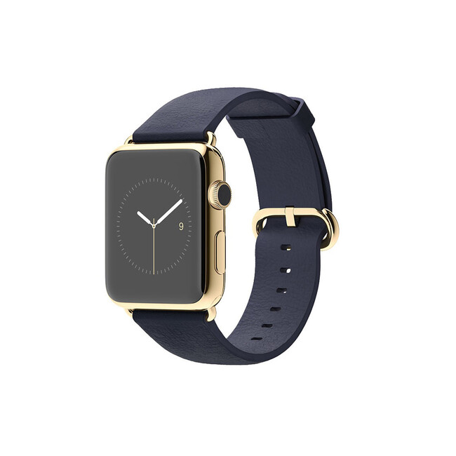 Часы Apple Watch Edition 42mm 18-Karat Yellow Gold Midnight Blue Classic Buckle
