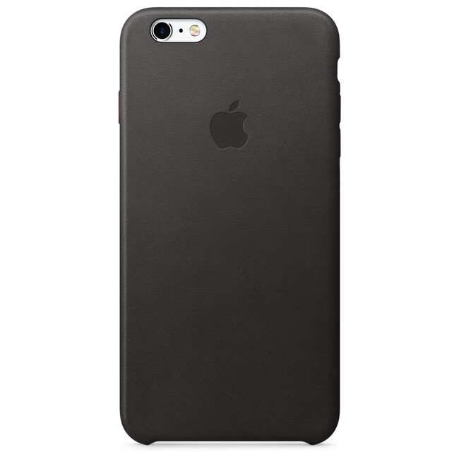 Кожаный чехол Apple Leather Case Black (MKXF2) для iPhone 6s Plus