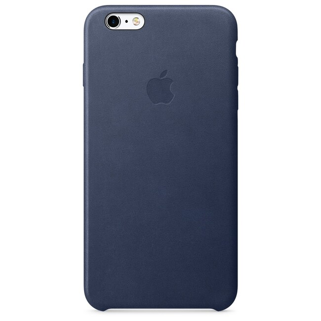 Кожаный чехол Apple Leather Case Midnight Blue (MKXD2) для iPhone 6s Plus