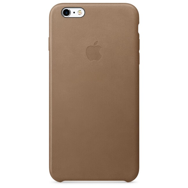 Кожаный чехол Apple Leather Case Brown (MKX92) для iPhone 6s Plus