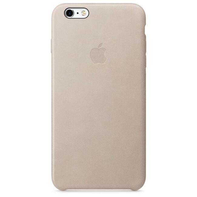Кожаный чехол Apple Leather Case Rose Gray (MKXE2) для iPhone 6s Plus