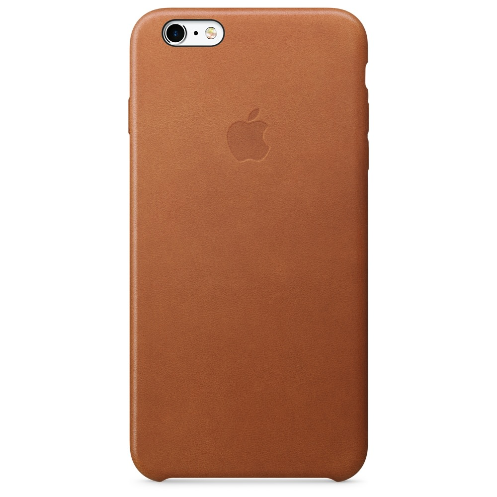 Купить Кожаный чехол Apple Leather Case Saddle Brown (MKXC2) для iPhone 6 Plus | 6s Plus