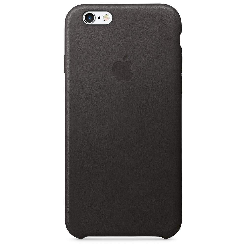Кожаный чехол Apple Leather Case Black OEM для iPhone 6s/6