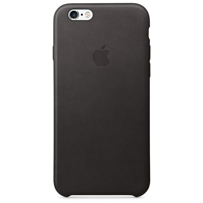 Кожаный чехол Apple Leather Case Black (MKXW2) для iPhone 6s