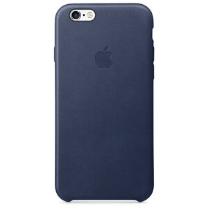 Купить Кожаный чехол Apple Leather Case Midnight Blue (MKXU2) для iPhone 6s