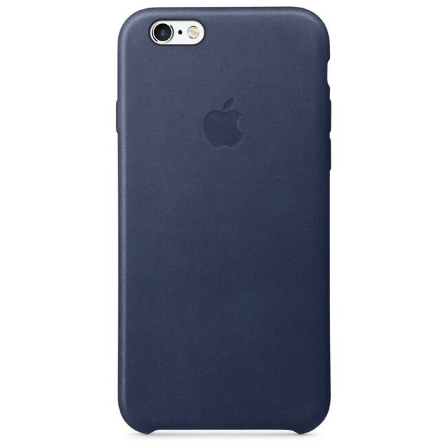 Кожаный чехол Apple Leather Case Midnight Blue (MKXU2) для iPhone 6s