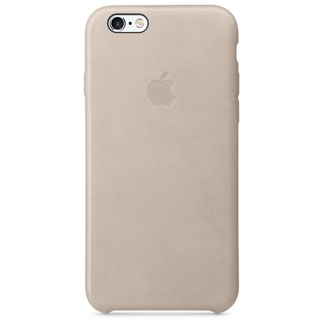 Кожаный чехол Apple Leather Case Rose Gray (MKXV2) для iPhone 6s