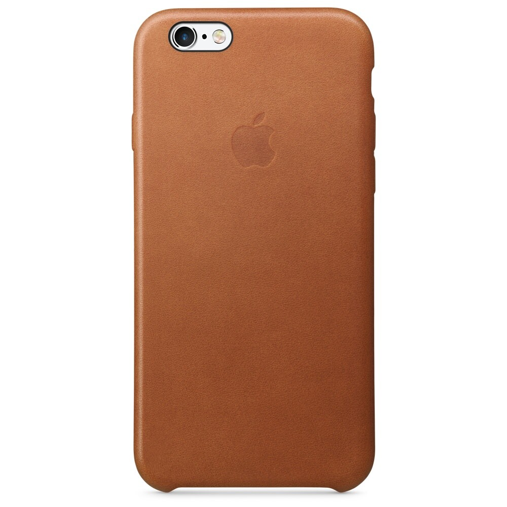 Кожаный чехол Apple Leather Case Saddle Brown (MKXT2) для iPhone 6s