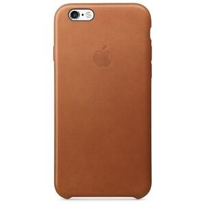 Кожаный чехол Apple Leather Case Saddle Brown (MKXT2) для iPhone 6s