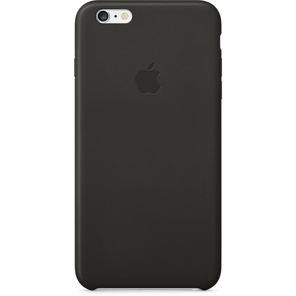Кожаный чехол Apple Leather Case Black (MGQX2) для iPhone 6 Plus/6s Plus