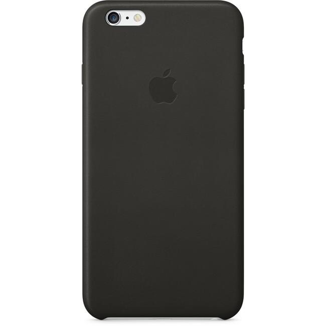 Кожаный чехол Apple Leather Case Black (MGQX2) для iPhone 6 Plus