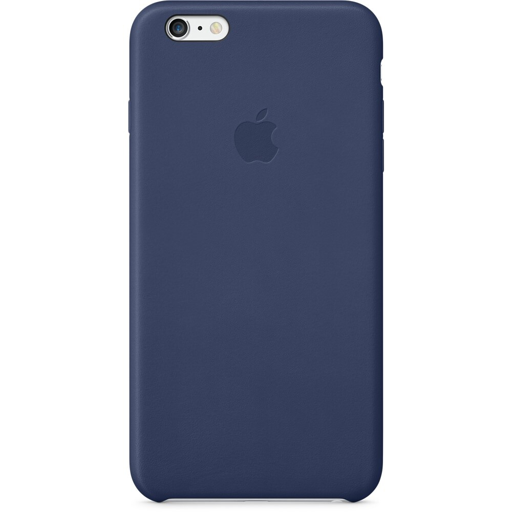 Кожаный чехол Apple Leather Case Midnight Blue (MGQV2) для iPhone 6 Plus/6s Plus