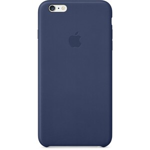Купить Кожаный чехол Apple Leather Case Midnight Blue (MGQV2) для iPhone 6 Plus