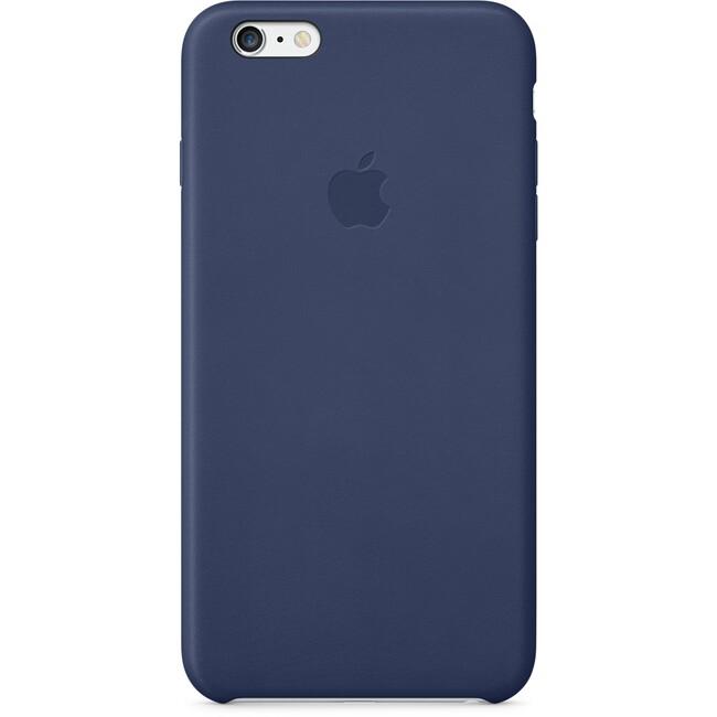 Кожаный чехол Apple Leather Case Midnight Blue (MGQV2) для iPhone 6 Plus