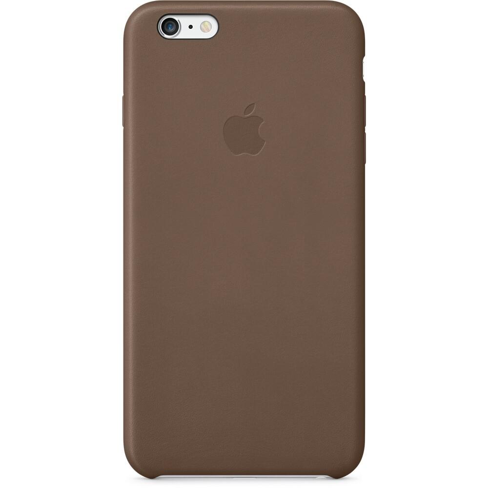 Кожаный чехол Apple Leather Case Olive Brown (MGQR2) для iPhone 6 Plus