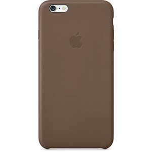 Купить Кожаный чехол Apple Leather Case Olive Brown (MGQR2) для iPhone 6 Plus